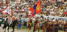 The world's largest rider spactacel - Naadam festival